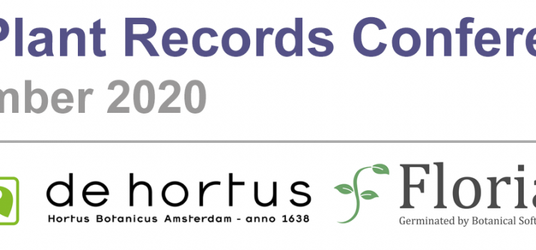 Registration is now open: 2020 Virtual Plant Records Conference