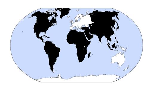 America, Asia, Africa