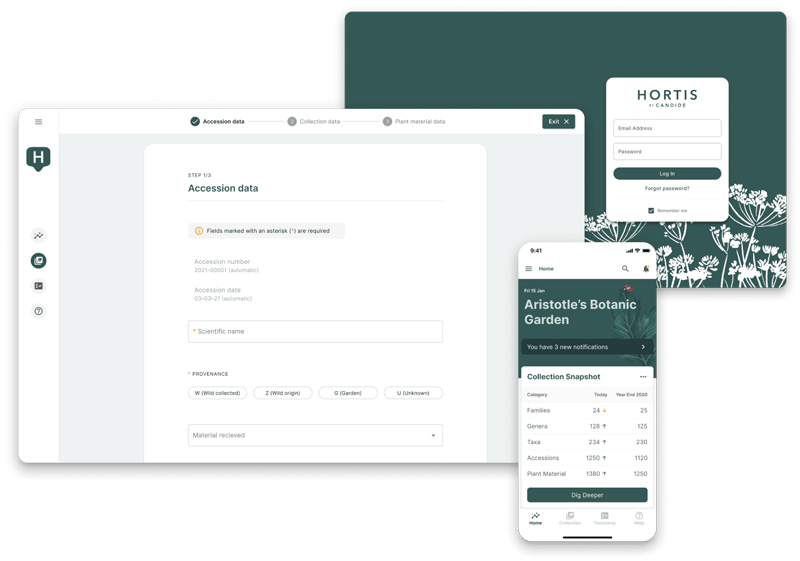 Hortis on mobile, tablet and PC