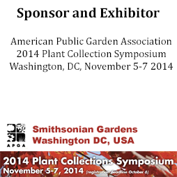 Sponsor and Exhibitor of the APGA Plant Collection Symposium 2014
