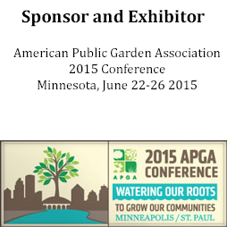 Sponsor and Exhibitor of American Public Garden Assocation Conference 2015
