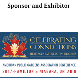 Sponsor and Exhibitor of American Public Garden Assocation Conference 2017