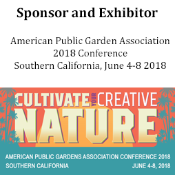Sponsor and Exhibitor at the American Public Garden Assocation Conference 2019