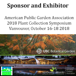 Sponsor and Exhibitor of APGA Plant Collection Symposium 2018